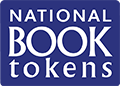 National Book Tokens logo. White writing on dark blue background