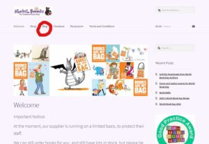 A screeen capture of the front page of the website. the Blog section of the menu is highlighted